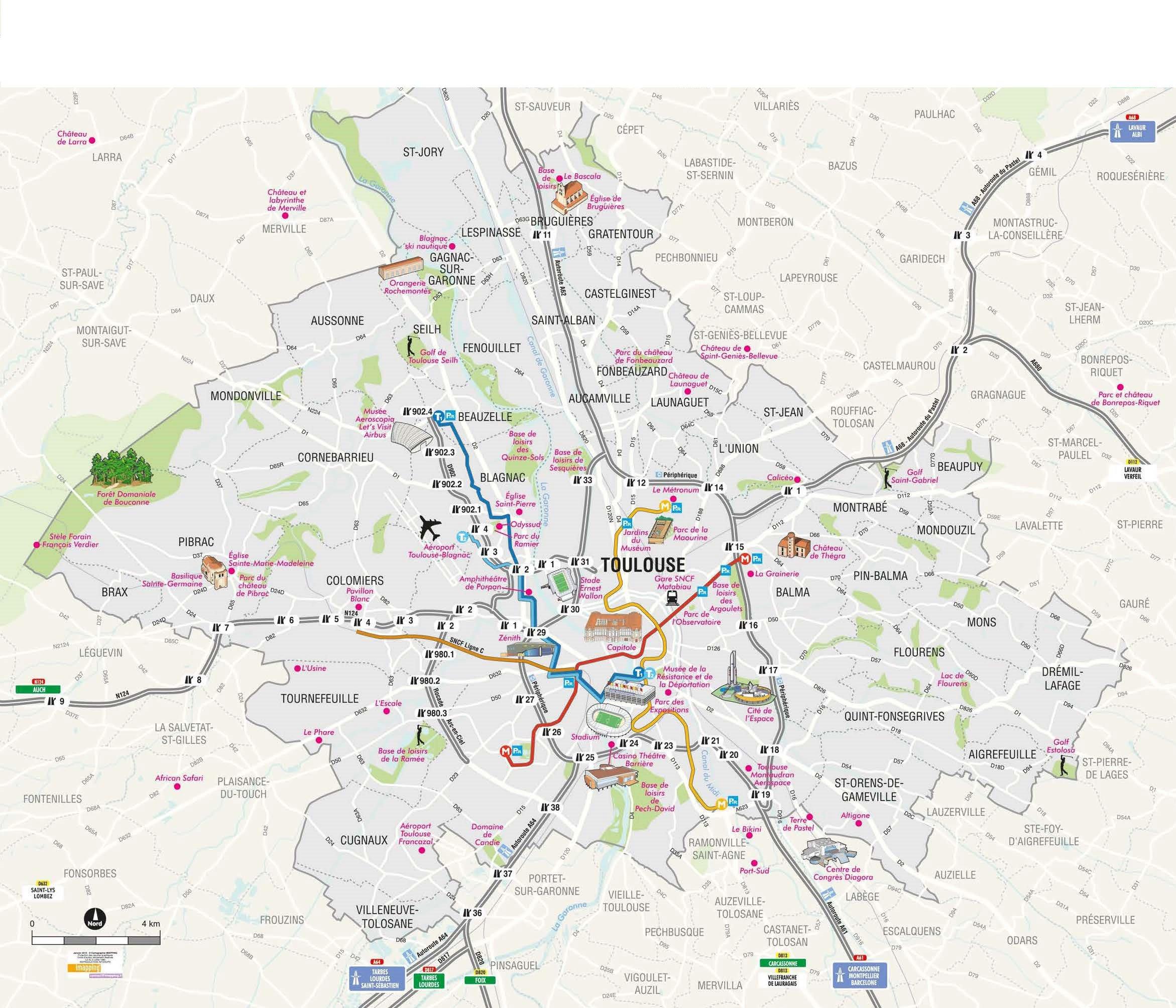 Plan Toulouse salle d'escalade partenaires Amassa Climb